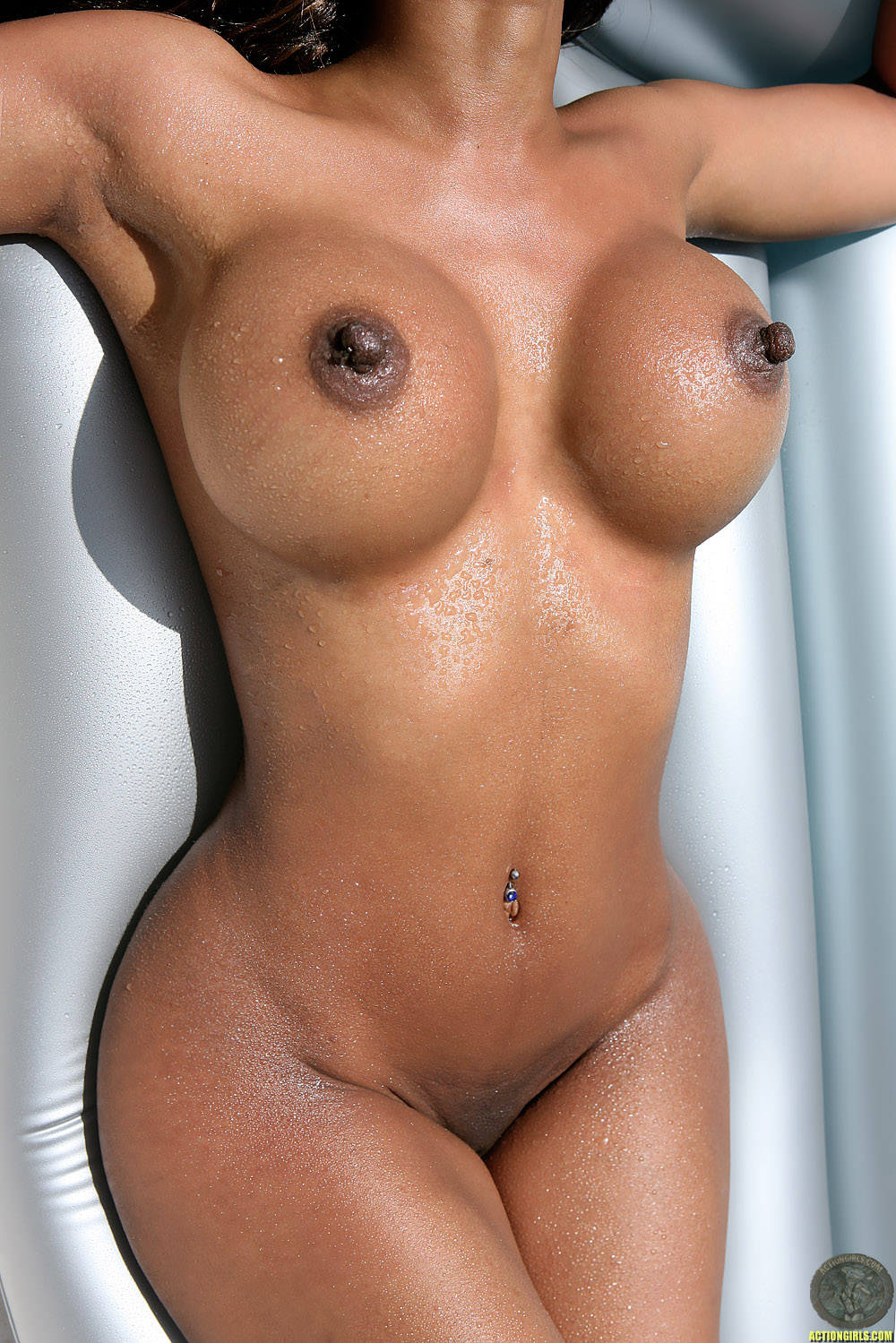 Nude female with large areola